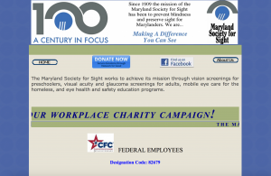 Maryland Society for Sight Screenshot